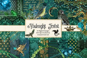 Midnight Forest Graphics Pack