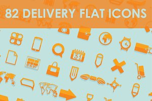 82 DELIVERY flat icons