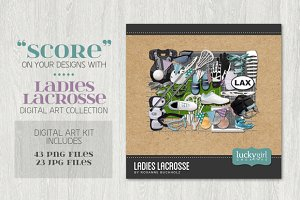 Ladies Lacrosse Digital Art Kit