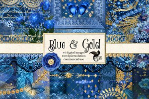 Blue and Gold Fantasy Graphics