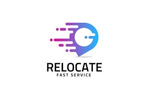 Relocate - Pin Motion Logo Template