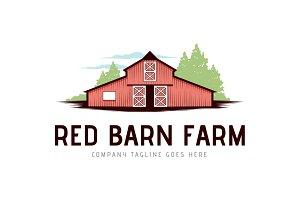 Red Barn Farm Logo Template