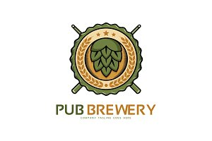Pub Brewery Logo Template
