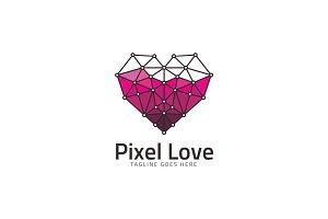 Pixel Love Logo Template