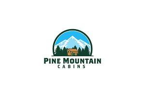Pine Mountain Cabins Logo Template
