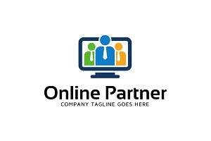Online Partner Teamwork Logo