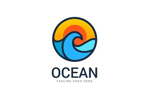 Ocean Travel Logo Template