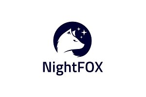 Night Fox Logo Template