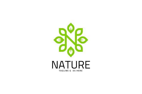 nature letter n logo template logo templates creative market
