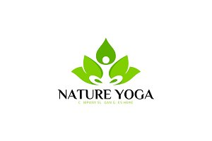 Nature Yoga Spa Logo Template