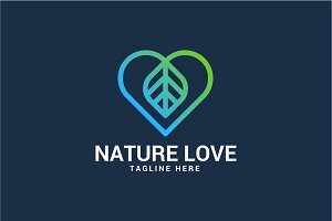 Nature Love Logo Template