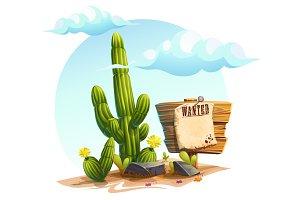 Cactus - vector cartoon illustration