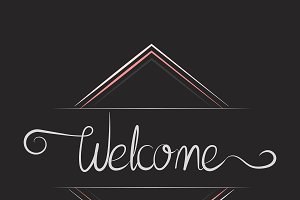 Welcome typography badge design