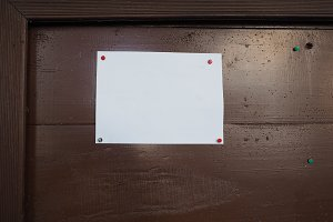 blank paper sign