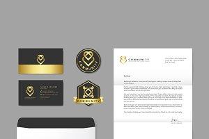 Company branding logo publication