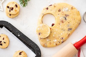 Christmas cookies with nuts and