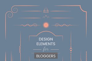design elements for bloggers vector