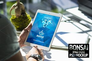 PSD Mockup iPad Mini Bonsai
