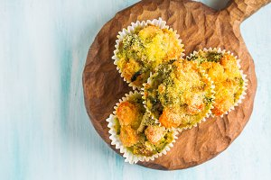 Healthy vegetable muffins with