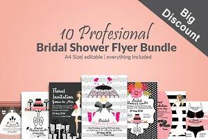 10 Bridal Shower Flyer Bundle