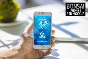PSD Mockup iPhone 6 Bonsai