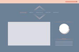 Web design for portfolio layout