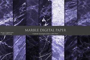 Purple Marble Digital Paper
