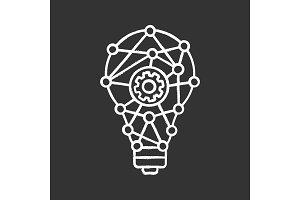 Innovation process chalk icon