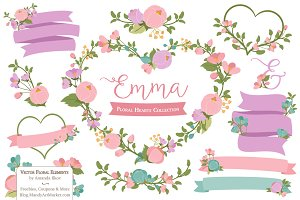 Garden Party Flower Heart Clipart