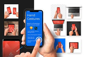 Hand Gestures Scene Mockup Creator