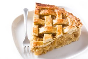 Homemade apple pie slice