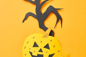 Scary pumpkins and a tree of