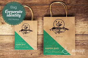 "Shopping Bags PSD Mockup ""A"""