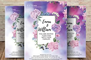 Floral Save the Date Invitation