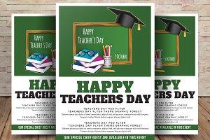 Teacher Day Flyer Template