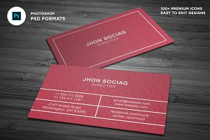 Simple Watercolor  Business Cards