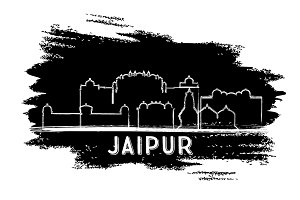 Jaipur India City Skyline Silhouette
