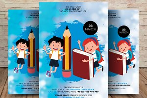 Back 2 School Flyer Template
