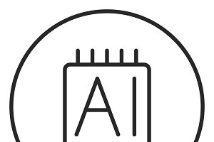 Smartwatch stroke icon, logo