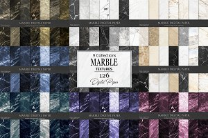 Marble Digital Paper 126 Textures