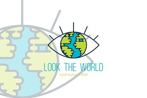 Look The World Logo Template