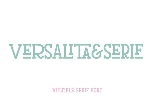 Serif Fonts: Franco Fuentes - Versalita&Serif - Font