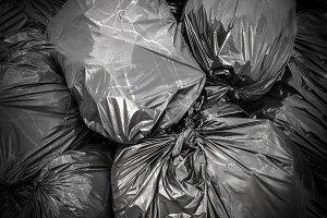 Background garbage bag