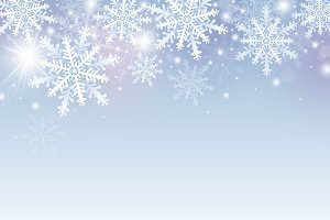 Christmas and winter background