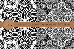 Seamless monochrome ornament pattern