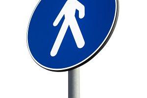 Signal of obligatory pedestrian path
