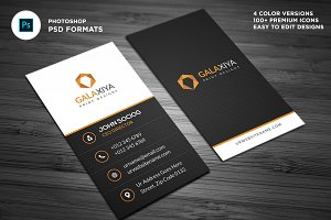 Modern Vertical Business Cards