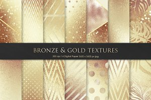 Gold Foil Textures Digital Paper