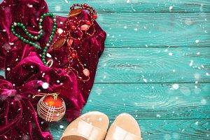 Red velvet dress for Christmas new