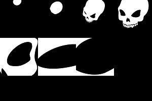 Sprite Sheets Skull. Ready for games